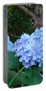 Garden Landscape Blue Hydrangeas Art Print Baslee Troutman Portable Battery Charger