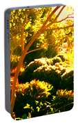 Garden Landscape On A Sunny Day Portable Battery Charger