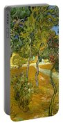 Garden Of Saint Paul's Hospital Portable Battery Charger by Vincent van Gogh
