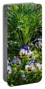 Garden Pansies Portable Battery Charger