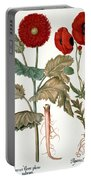 Garden Poppy Portable Battery Charger