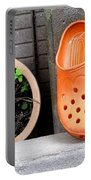Garden Shoes Waiting Portable Battery Charger