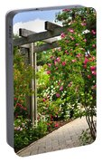 Garden With Roses Portable Battery Charger