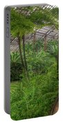 Garfield Park Conservatory Pond And Path Chicago Portable Battery Charger