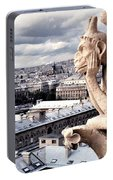 Gargoyle Of Notre Dame Portable Battery Charger