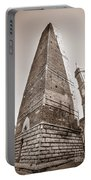 Garisenda Tower In Bologna Portable Battery Charger