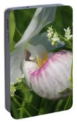 Garnished Showy Lady Slipper Portable Battery Charger