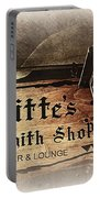 Gas Light At Lafitte's Blacksmith Shop Portable Battery Charger