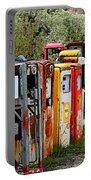 Gas Pump Conga Line In New Mexico Portable Battery Charger