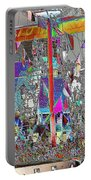 Gasparilla Pirates Invade Tampa Portable Battery Charger by Carol Groenen