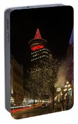 Gastown In Vancouver Bc At Night Portable Battery Charger
