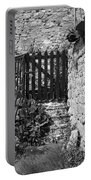 Gate At Dunguaire Castle Kinvara Ireland Portable Battery Charger
