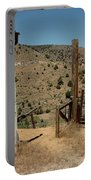 Gate Out Of Virginia City Nv Cemetery Portable Battery Charger