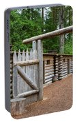 Gate To Log Camp At Fort Clatsop Portable Battery Charger