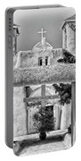 Gate To Ranchos Church Black And White Portable Battery Charger