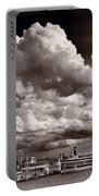Gathering Clouds Over Lake Geneva Bw Portable Battery Charger