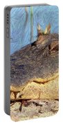 Gator Grin - Digital Art Portable Battery Charger