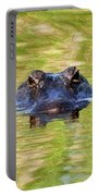Gator In The Green - Digital Art Portable Battery Charger