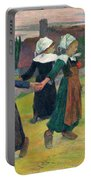 Gauguin, Breton Girls, 1888 Portable Battery Charger