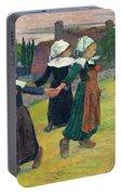 Gauguin, Breton Girls, 1888 Portable Battery Charger