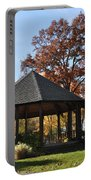 Gazebo At North Ridgeville - Autumn Portable Battery Charger