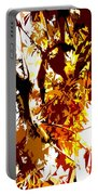 Gazing Into The Autumn Trees Portable Battery Charger