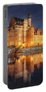 Gdansk By Night Portable Battery Charger