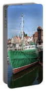 Gdansk Old Town Skyline From The Harbour Portable Battery Charger
