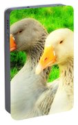 Geese Have Strong Affections For Others In Their Group Portable Battery Charger