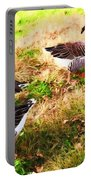 Geese In The Yard Portable Battery Charger