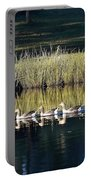 Geese Mother And Young Portable Battery Charger