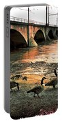 Geese On A Stroll Portable Battery Charger