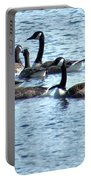 Geese On Lake Nockamixon Portable Battery Charger