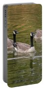 Geese On Pond Portable Battery Charger