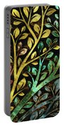 Gemstone Tree With Golden Decor Portable Battery Charger