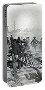 Gen Shermans Troops Destroying Railroad Before The Evacuation Of Atlanta - C 1864 Portable Battery Charger