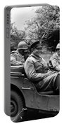 General Eisenhower In A Jeep Portable Battery Charger