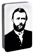 General Grant Black And White  Portable Battery Charger