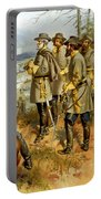General Lee At The Battle Of Fredericksburg Portable Battery Charger by War Is Hell Store