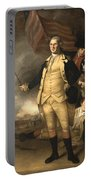 General Washington At The Battle Of Princeton Portable Battery Charger