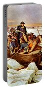 General Washington Crossing The Delaware River Portable Battery Charger by War Is Hell Store