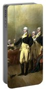 General Washington Resigning His Commission Portable Battery Charger