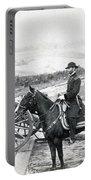 General William T Sherman On Horseback - C 1864 Portable Battery Charger
