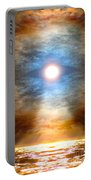 Gentle Mantra Om Light Glowing Into The Sea Portable Battery Charger