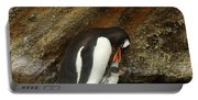 Gentoo Penguin Feeding Chicks Portable Battery Charger