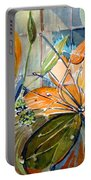 Geo Day Lilies Portable Battery Charger