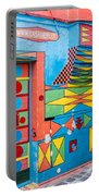 Geometric Art In Burano Portable Battery Charger