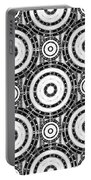 Geometric Black And White Portable Battery Charger