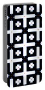 Geometric In Black And White Portable Battery Charger