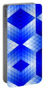 Geometric In Blue Portable Battery Charger